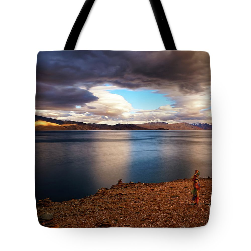 No Person Tote Bag featuring the photograph Stormy Peace by Deepak Bhatia