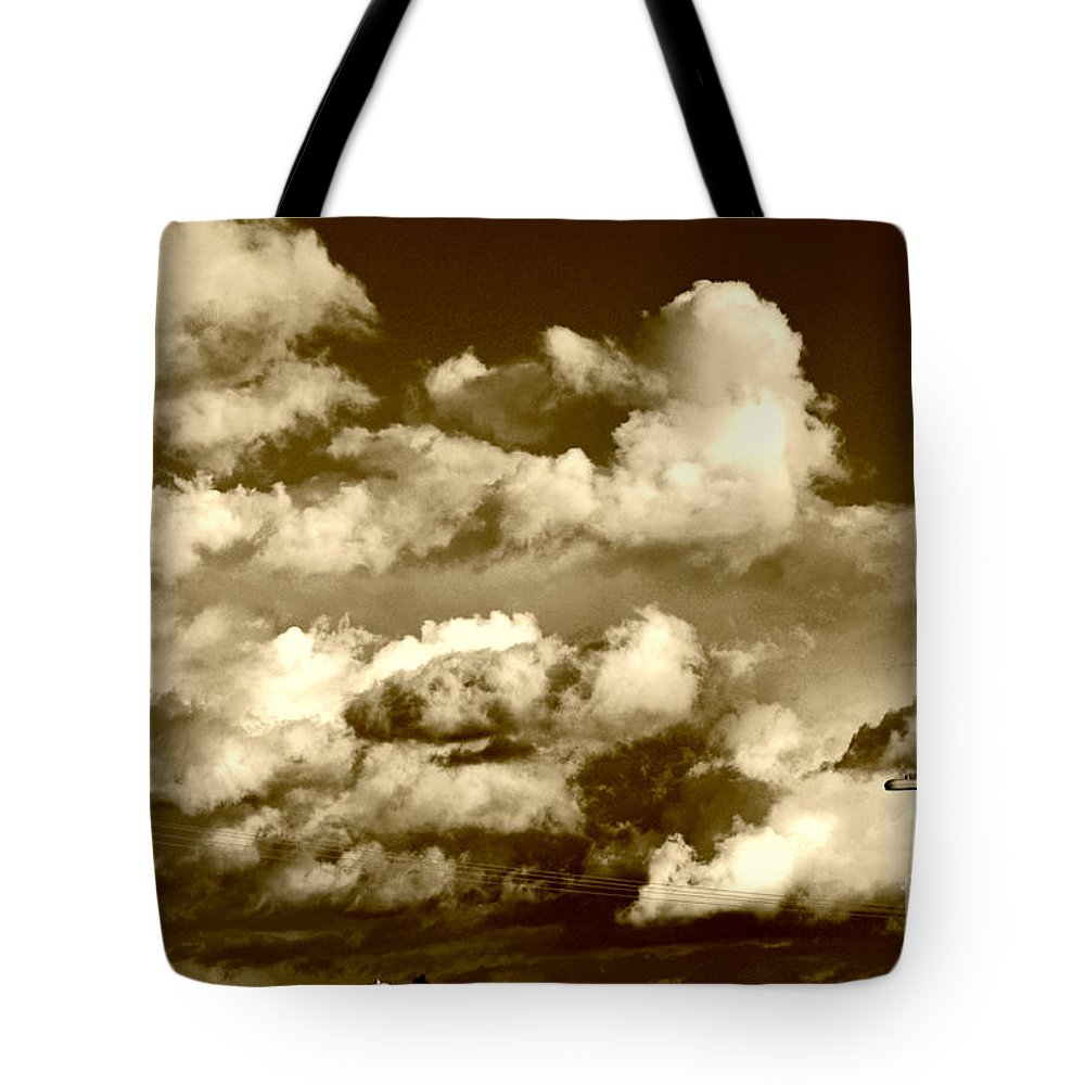 Clay Tote Bag featuring the photograph Stormy Skies In Socal by Clayton Bruster