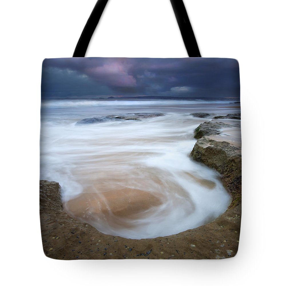 Sunrise Tote Bag featuring the photograph Stormy Sunrise by Mike Dawson