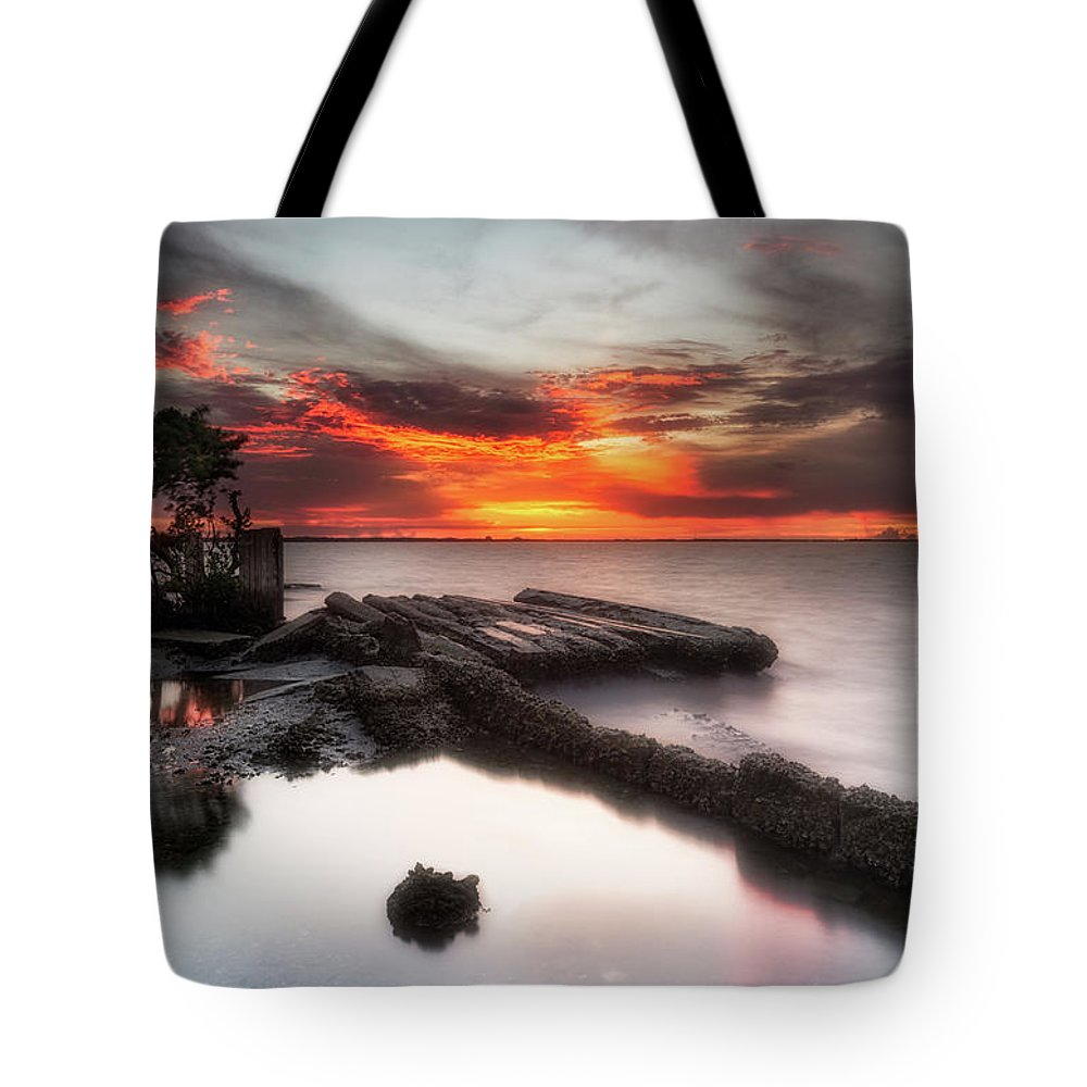 Storm Tote Bag featuring the photograph Stormy Twilight Afterglow by Ronald Kotinsky