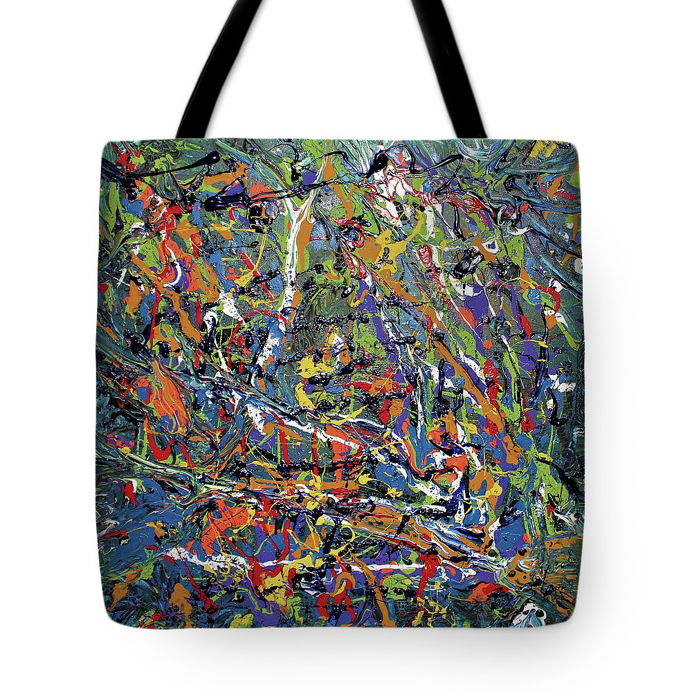 Orange Tote Bag featuring the painting Stormza Brewin' by Pam Roth O'Mara