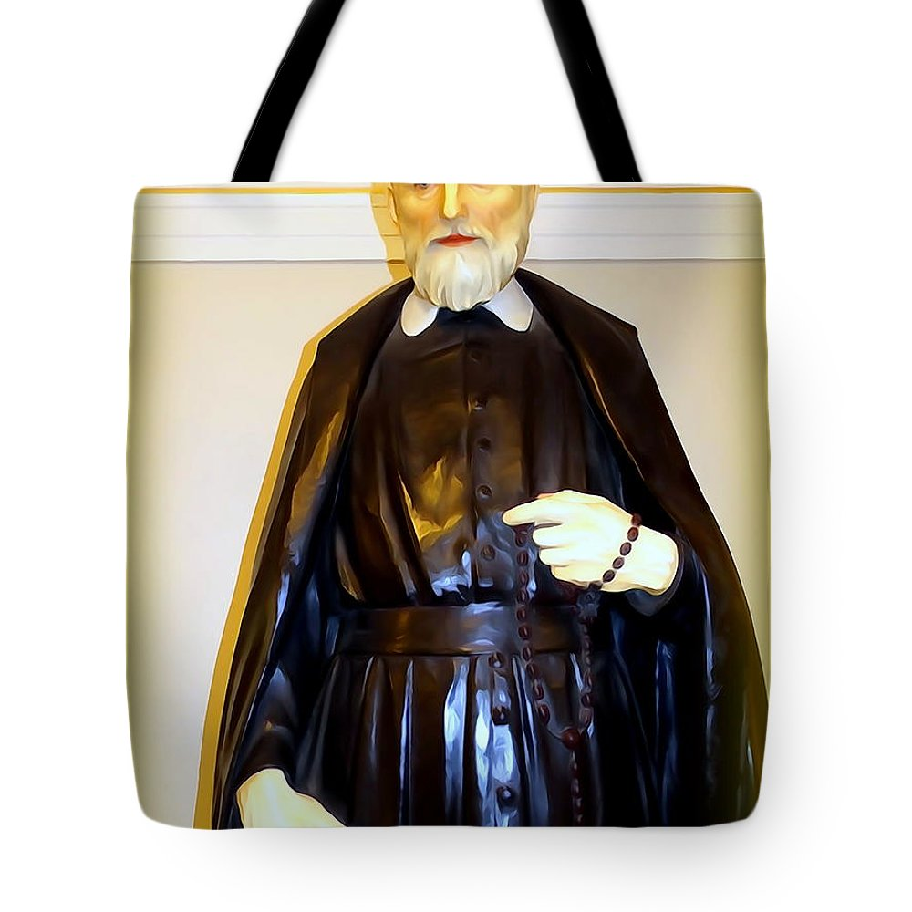 Digital Tote Bag featuring the photograph St.philip Neri by Ed Weidman