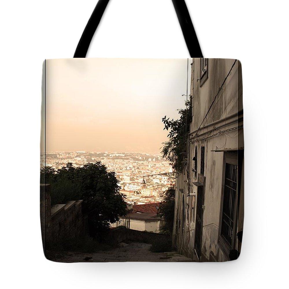 Strada Tote Bag featuring the photograph Strada Bella by La Dolce Vita