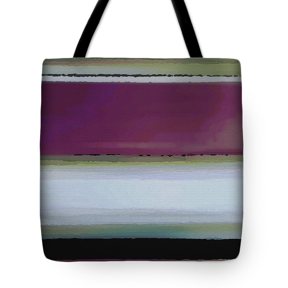 Abstract Tote Bag featuring the digital art Straight Across by Ruth Palmer
