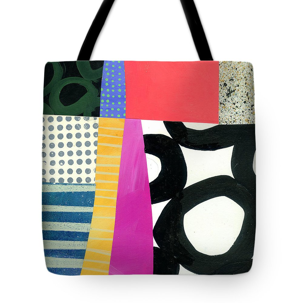Abstract Art Tote Bag featuring the painting Straight Up by Jane Davies