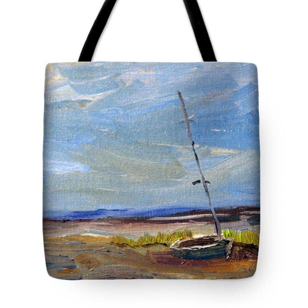Nature Tote Bag featuring the painting Stranded by Michael Helfen
