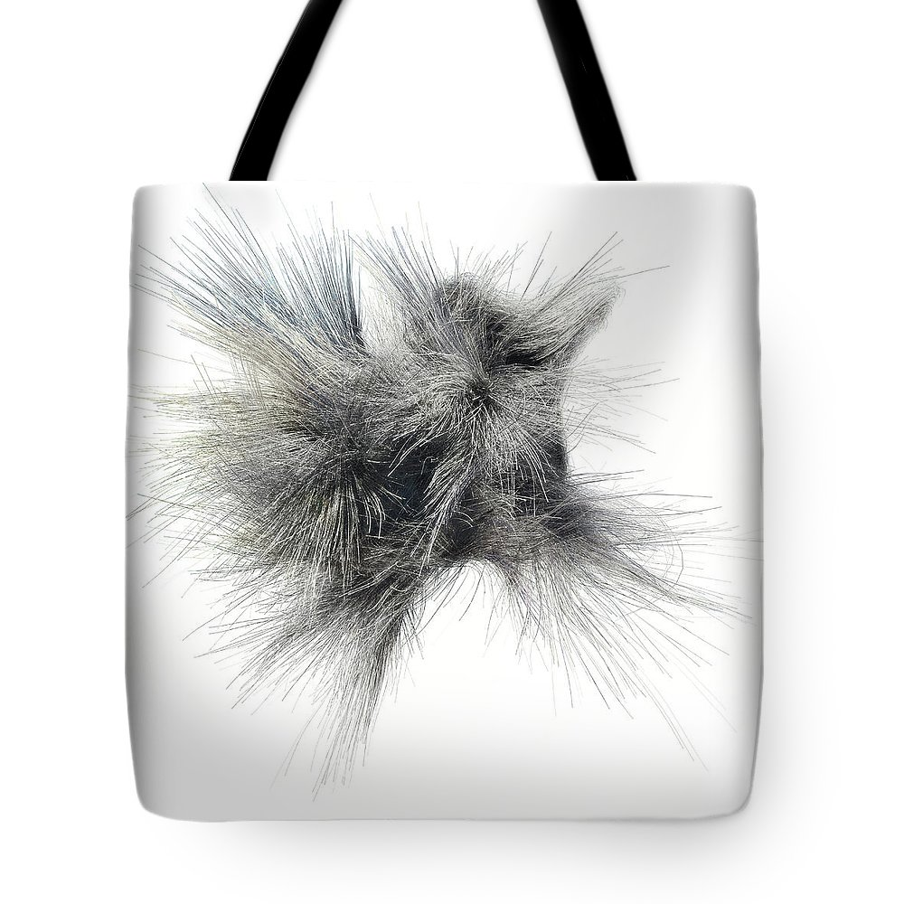 Abstract Tote Bag featuring the digital art Strands 1 by Scott Norris
