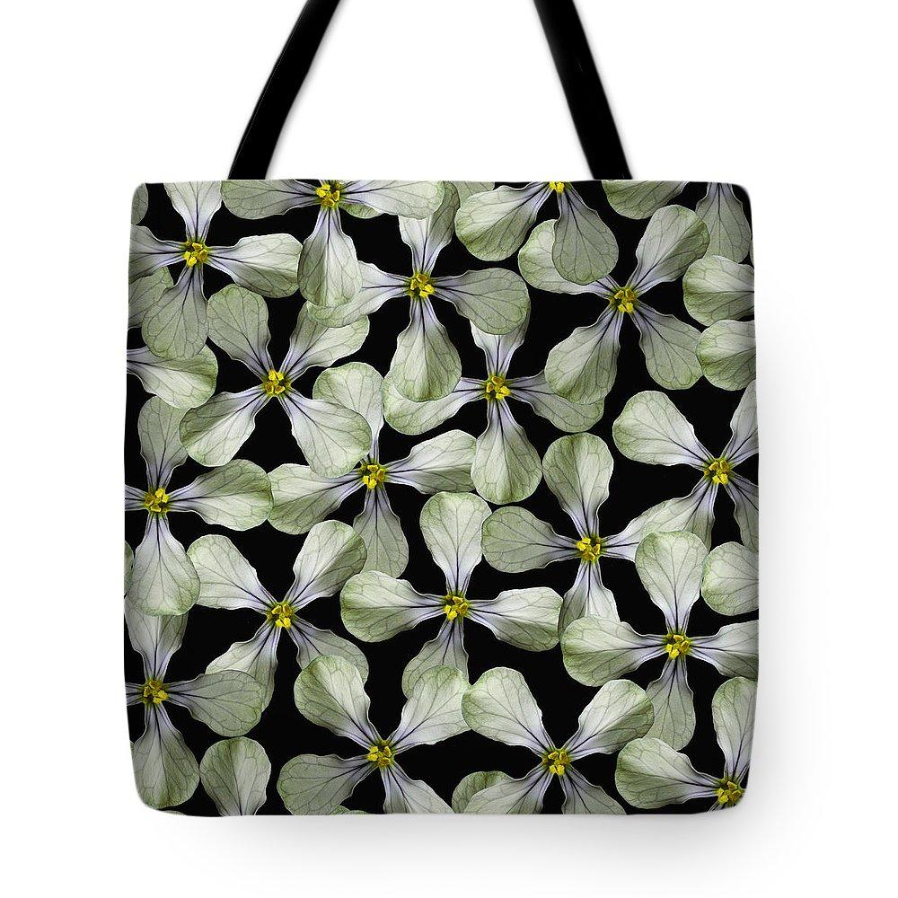 Flower Tote Bag featuring the digital art Strange Flower by Stefano Fossiant Sini