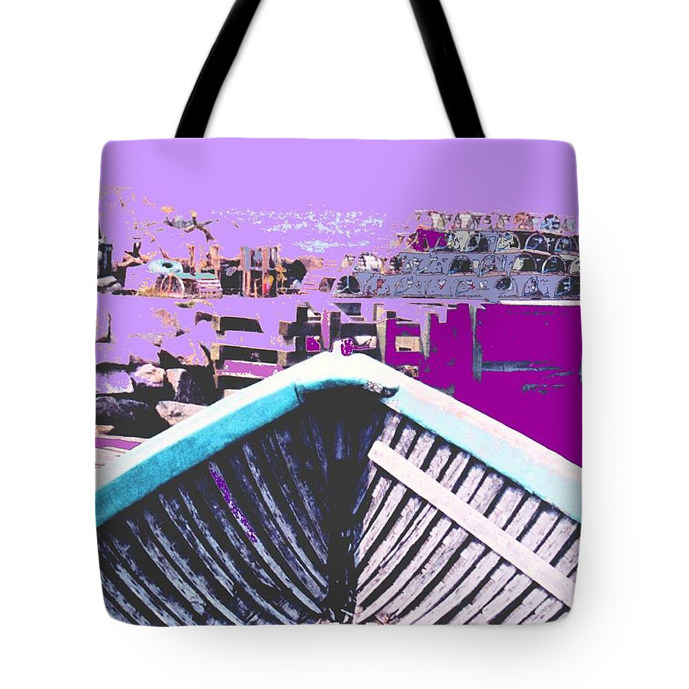 Nova Scotia Tote Bag featuring the photograph Strange Voyage by Ian MacDonald