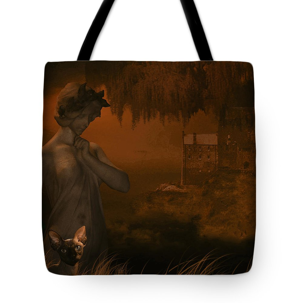 Graphic Art Tote Bag featuring the digital art Strange World by Ruben Flanagan