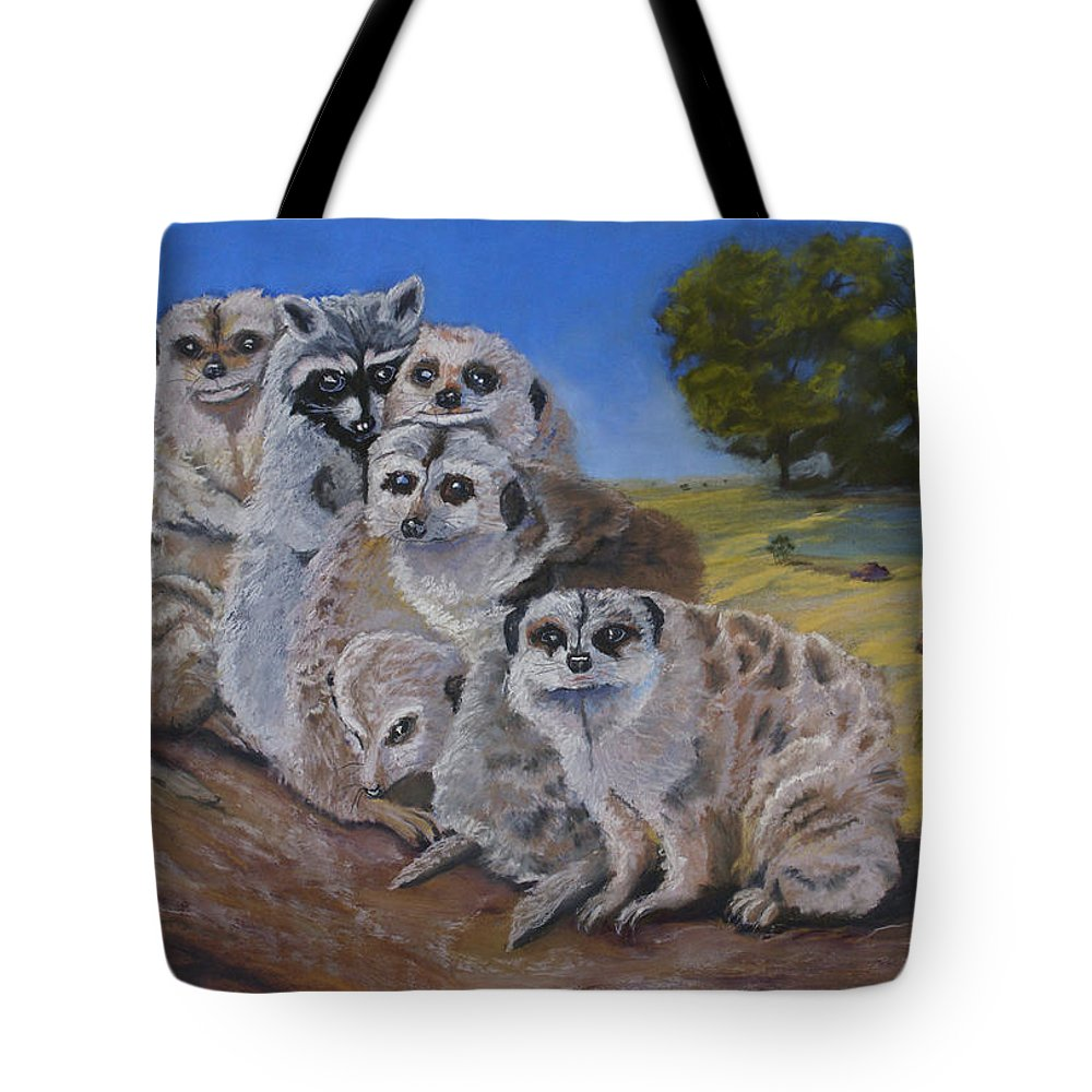 Meer Cat Tote Bag featuring the painting Stranger In A Strange Land by Heather Coen
