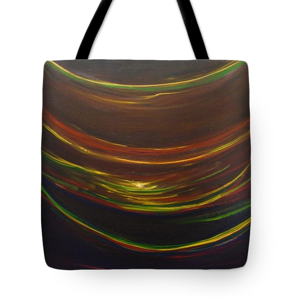 Rainbow Red Yellow Obama Tote Bag featuring the painting Strata Surf by Jack Diamond