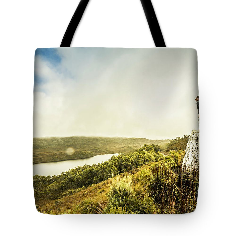 Tasmania Tote Bag featuring the photograph Strathgordon Tasmania Adventurer by Jorgo Photography - Wall Art Gallery