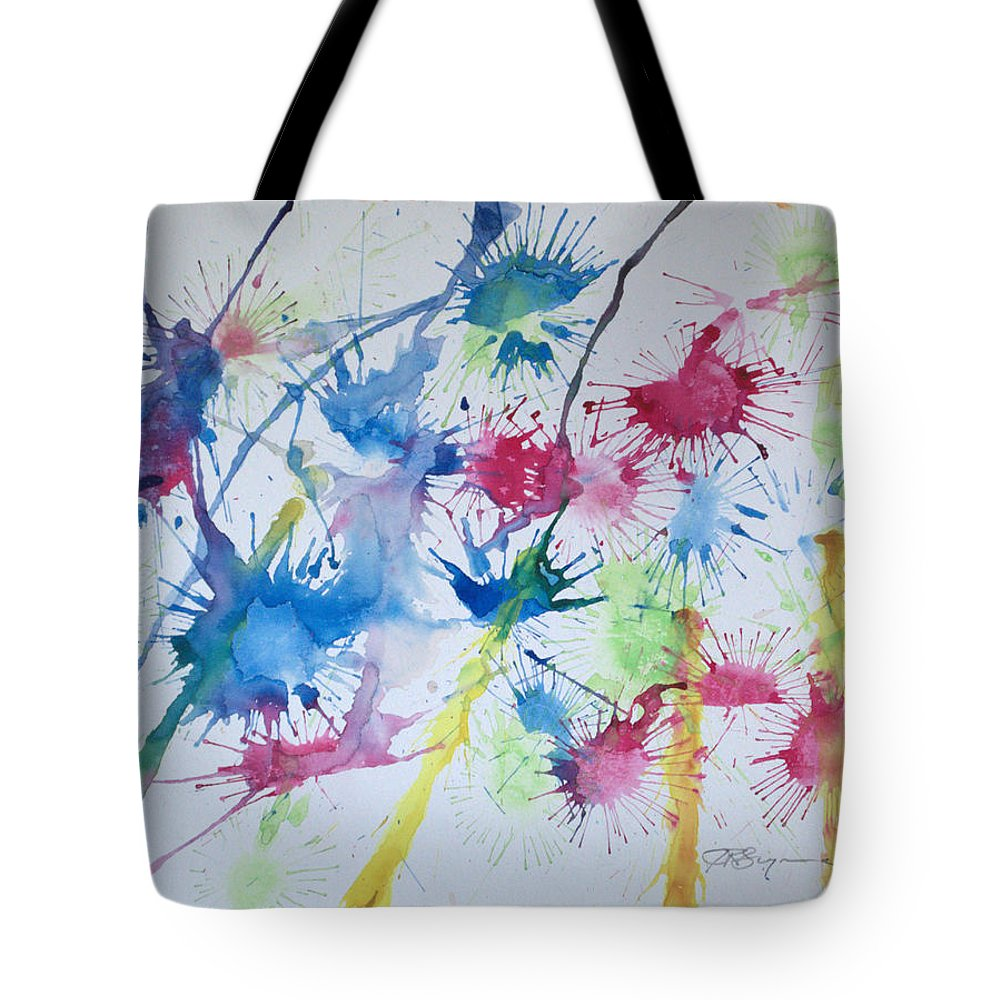 Straw Blown Painting Tote Bag featuring the painting Straw Blown by J R Seymour