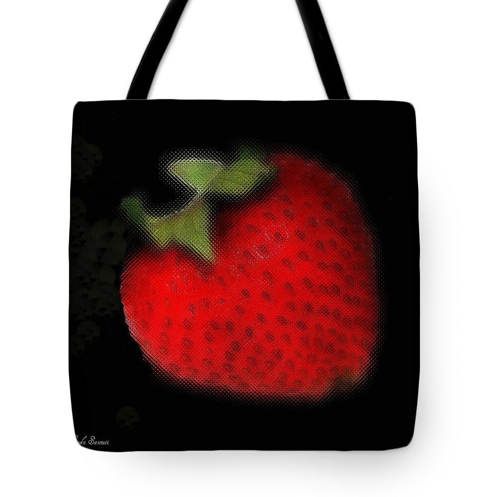 Still Life Tote Bag featuring the photograph Strawberry by Linda Sannuti