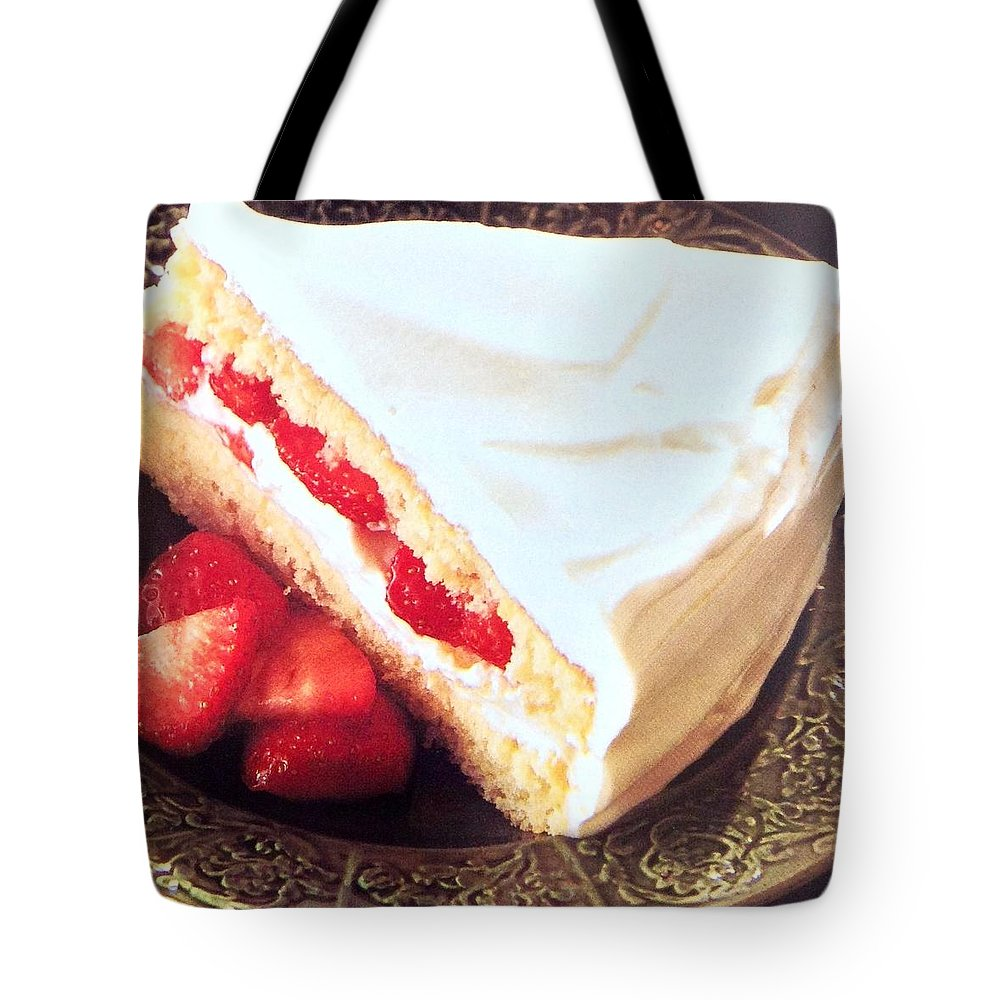 Tote Bag featuring the photograph Strawberry Short Cake by Jacqueline Manos