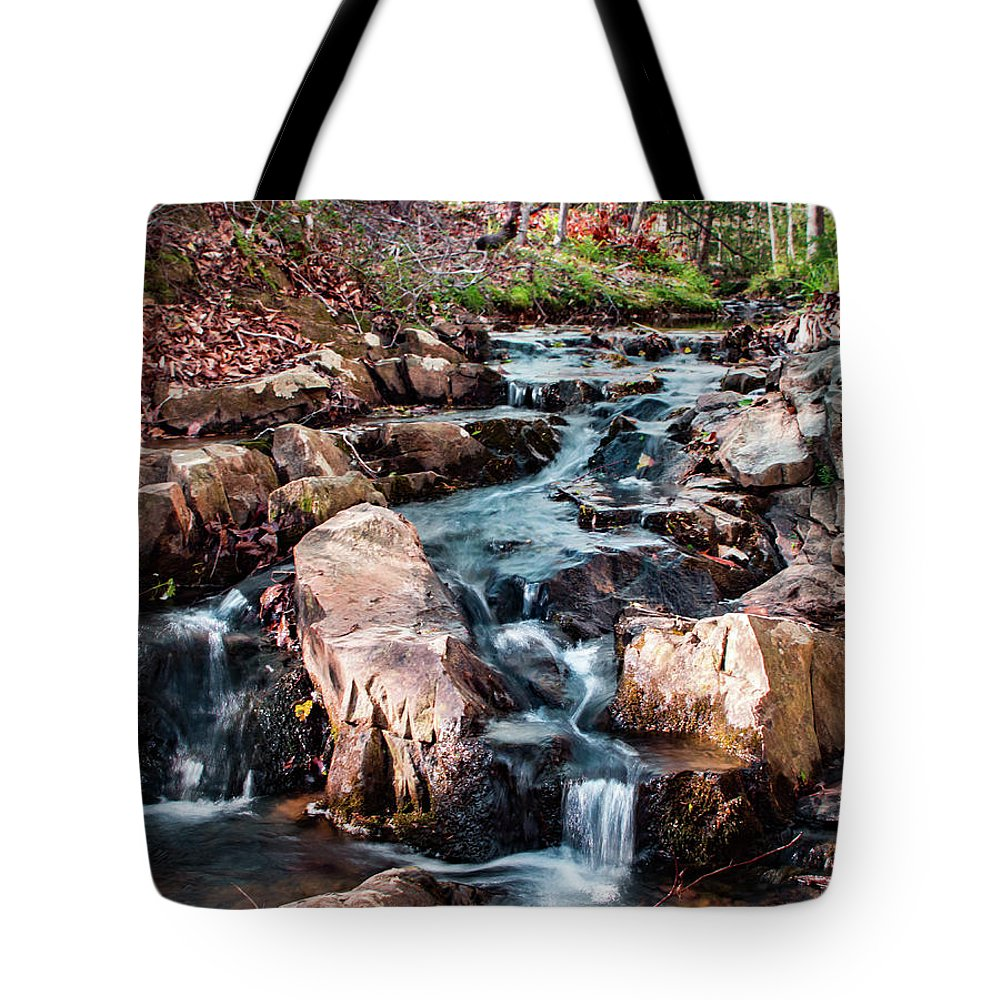 Stream Tote Bag featuring the photograph Stream by Ant Pruitt