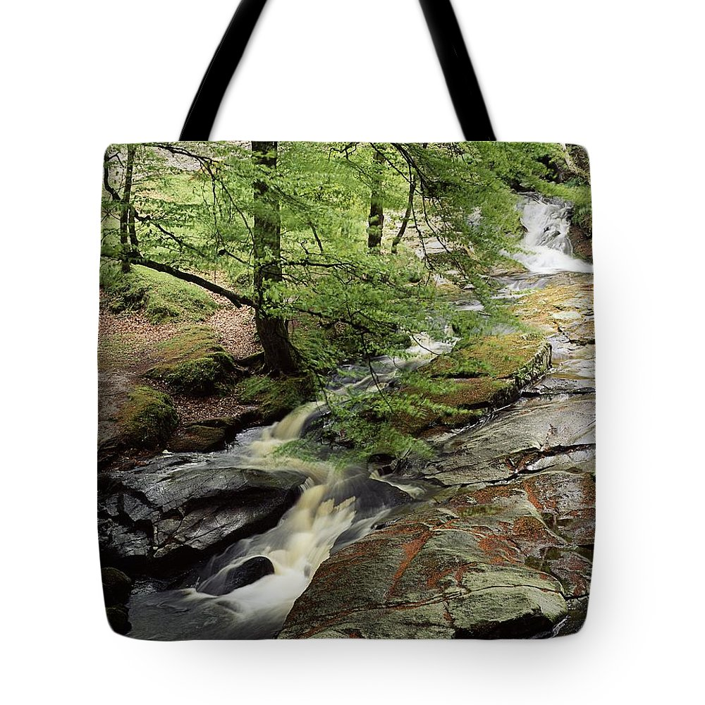 Day Tote Bag featuring the photograph Stream In The Irish Countryside by The Irish Image Collection