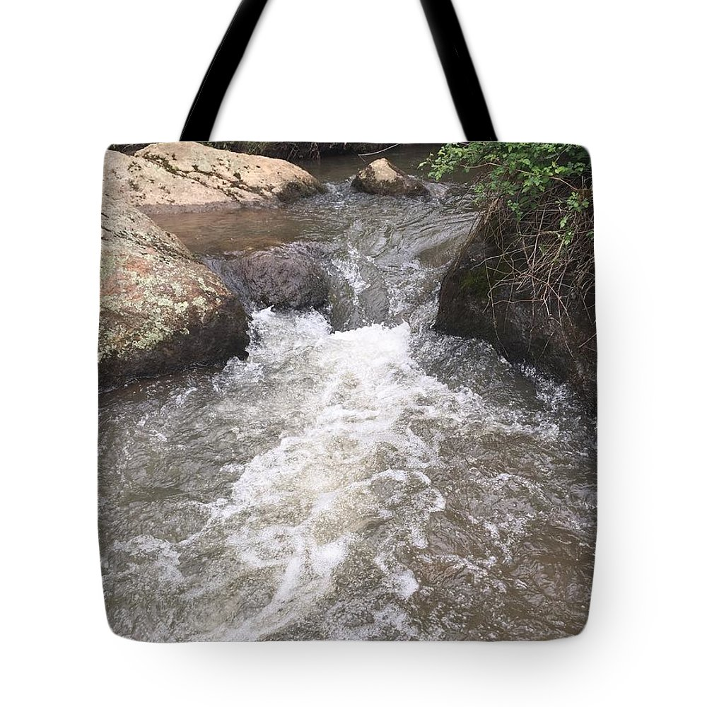 Steam Tote Bag featuring the photograph Stream by TBlendI Seez