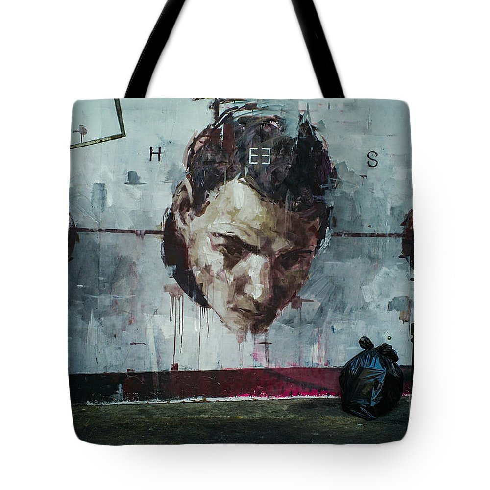 London Streets Tote Bag featuring the pyrography Street Arts. by Cyril Jayant