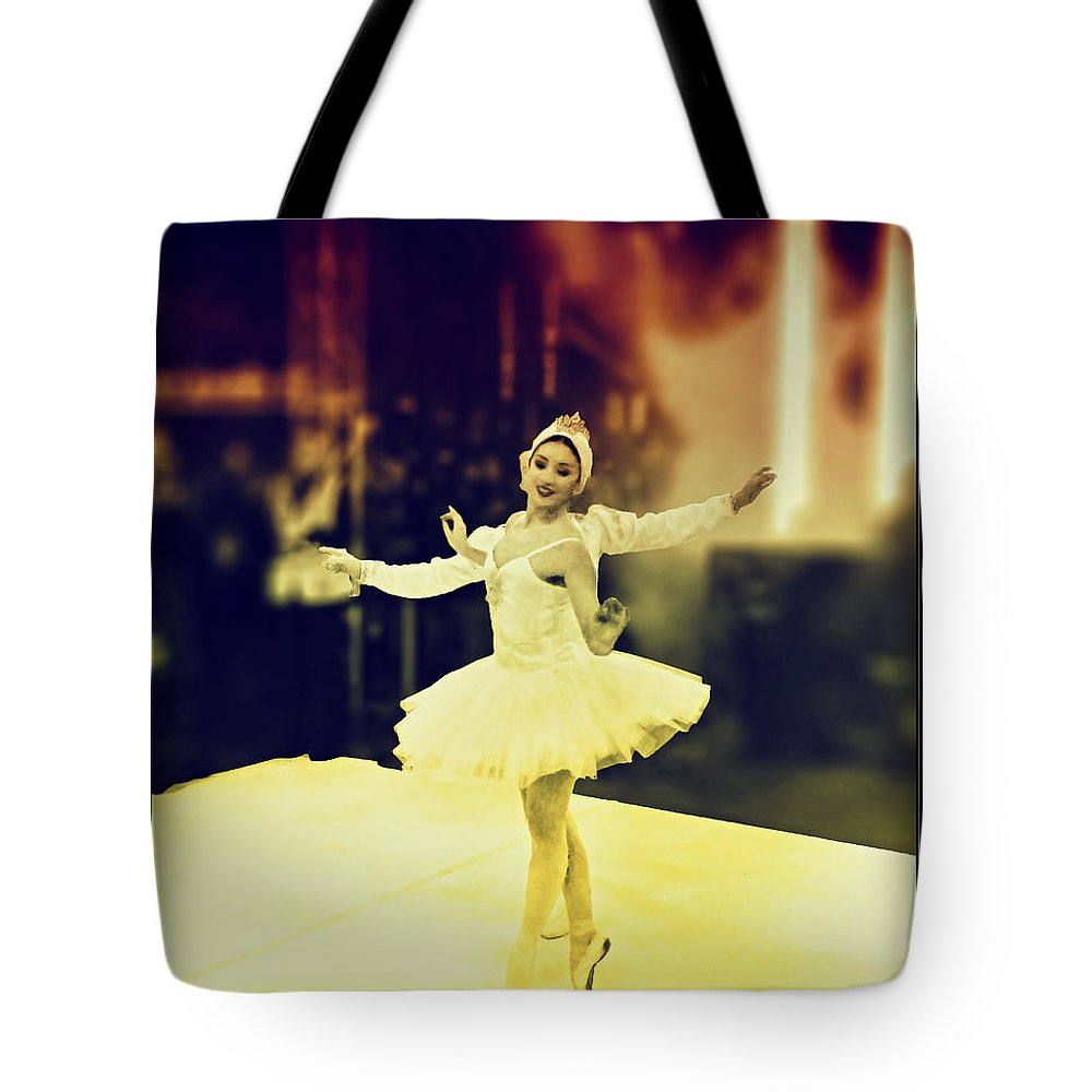 Street Dancer Tote Bag featuring the photograph Street Dancers by Nick Eagles