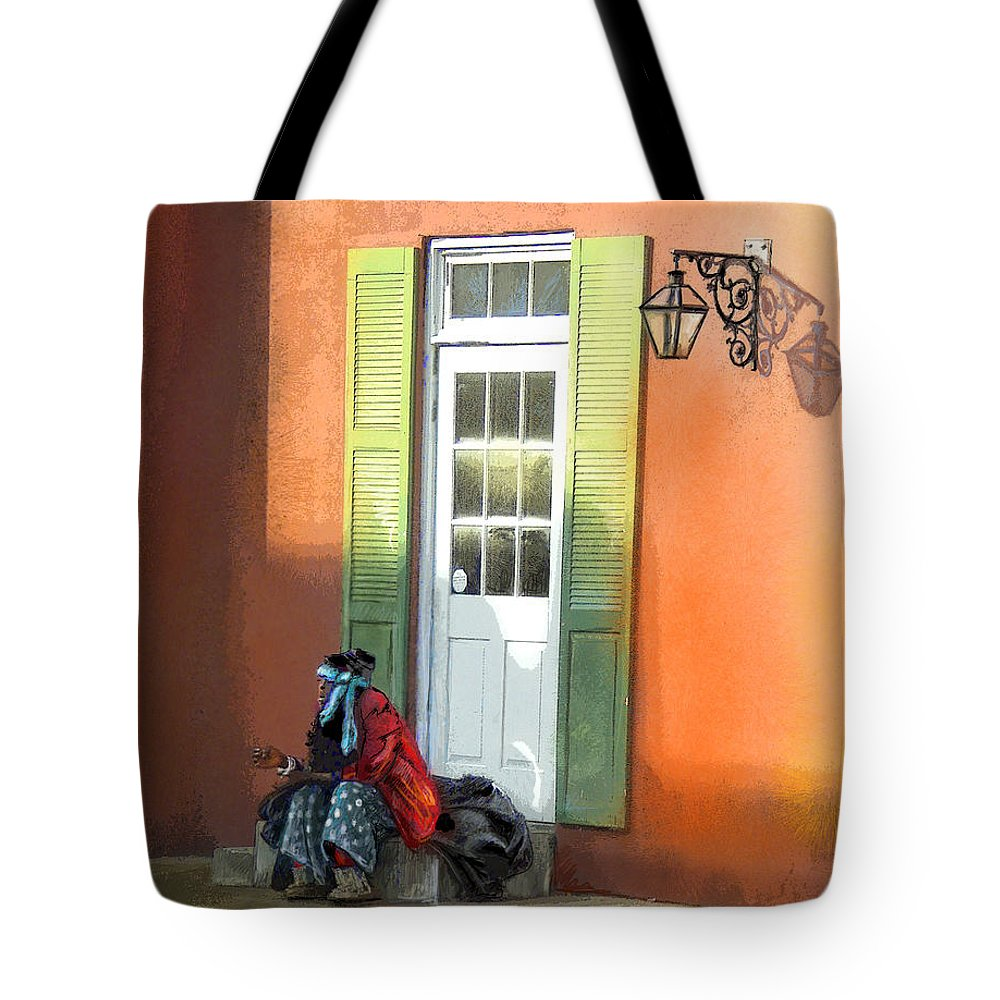 Memphis Art Tote Bag featuring the painting Street Life In Memphis by Miki De Goodaboom