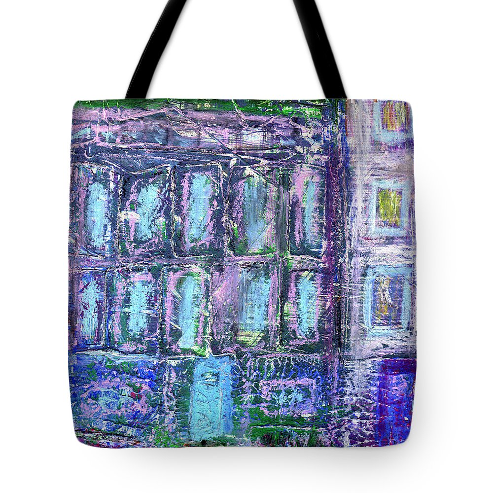 Street Tote Bag featuring the painting Street Life by Wayne Potrafka