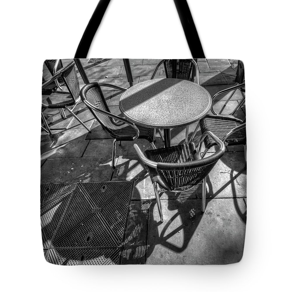 Street Tote Bag featuring the photograph Street Texture by Wayne Sherriff
