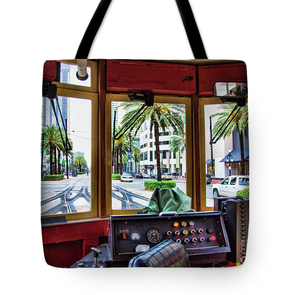 Streetcar Tote Bag featuring the photograph Streetcar Interior New Orleans by Chuck Kuhn