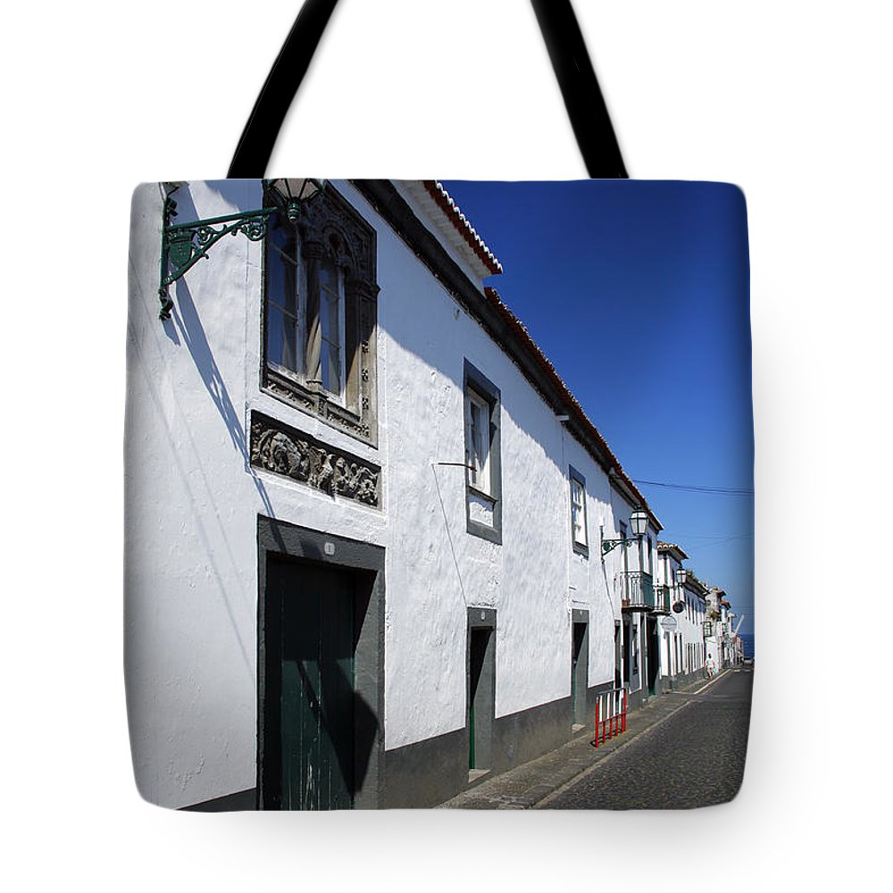 Portugal Tote Bag featuring the photograph Streets Of Ribeira Grande by Gaspar Avila