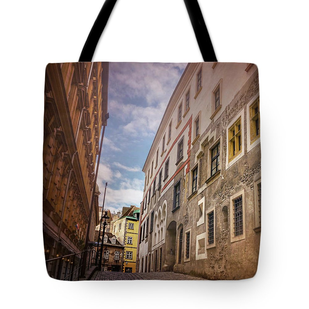 Vienna Tote Bag featuring the photograph Streets Of Vienna Austria by Carol Japp
