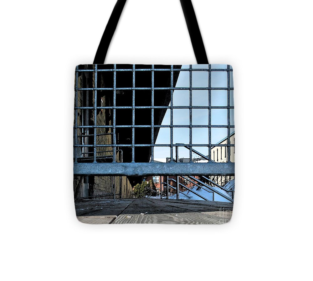 Perspective Tote Bag featuring the photograph Streetscape 3 Housing by Gary Everson