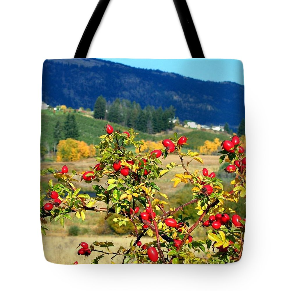 Autumn Tote Bag featuring the photograph Striking Autumn Red by Will Borden