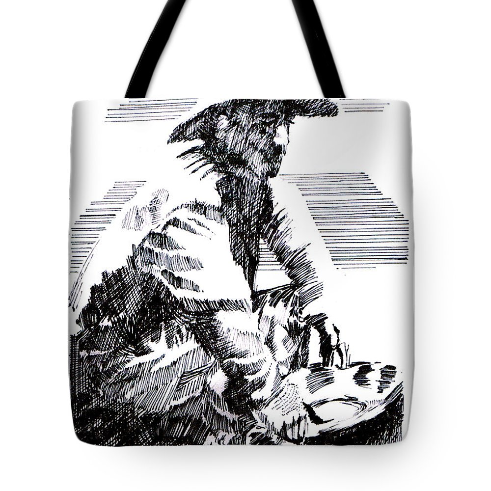 1850's Old West Tote Bag featuring the drawing Striking It Rich by Seth Weaver
