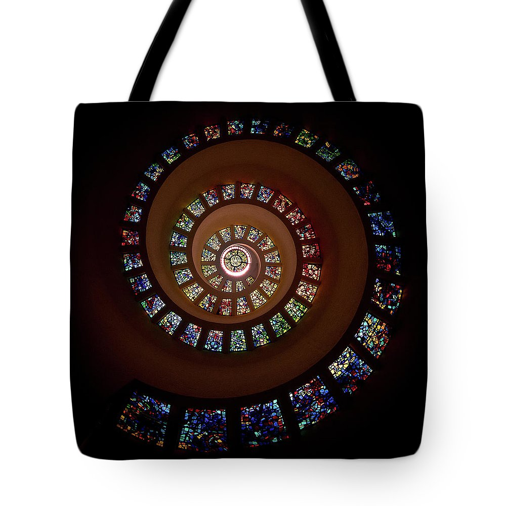 Stain Glass Tote Bag featuring the photograph Thanksgiving Chapel by Janet Chung
