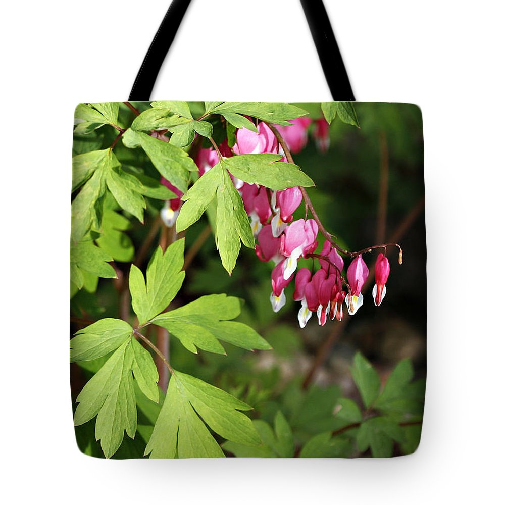 Flower Tote Bag featuring the photograph String Of Hearts by Marilyn Hunt