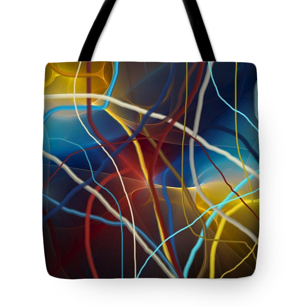 Fine Art Tote Bag featuring the digital art String Theory by David Lane