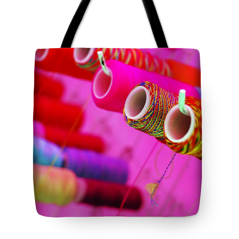 Color Tote Bag featuring the photograph String Theory by Skip Hunt