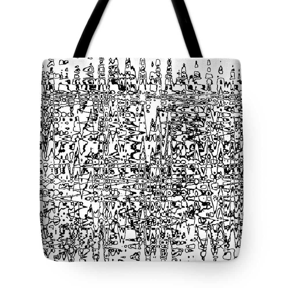 String Theory Tote Bag featuring the digital art String Theory by Tom Janca
