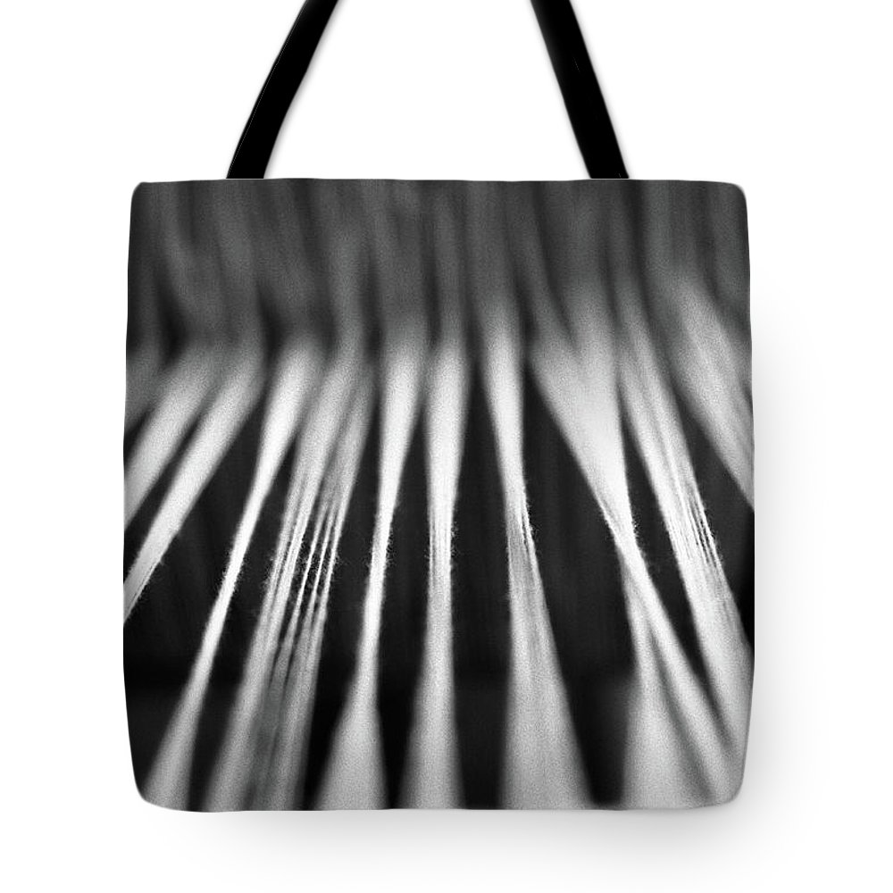 Yarn Tote Bag featuring the photograph Strings In A Loom by Gaspar Avila