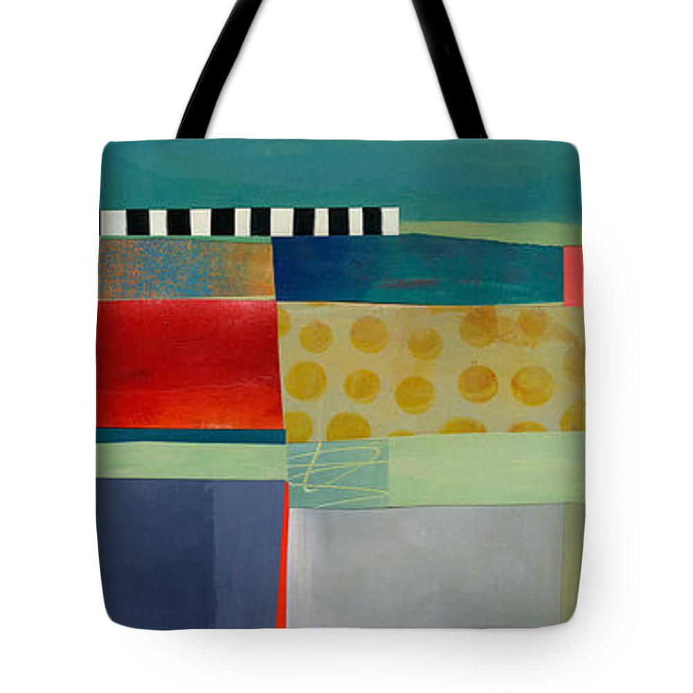 Abstract Art Tote Bag featuring the painting Stripe Assemblage 2 by Jane Davies