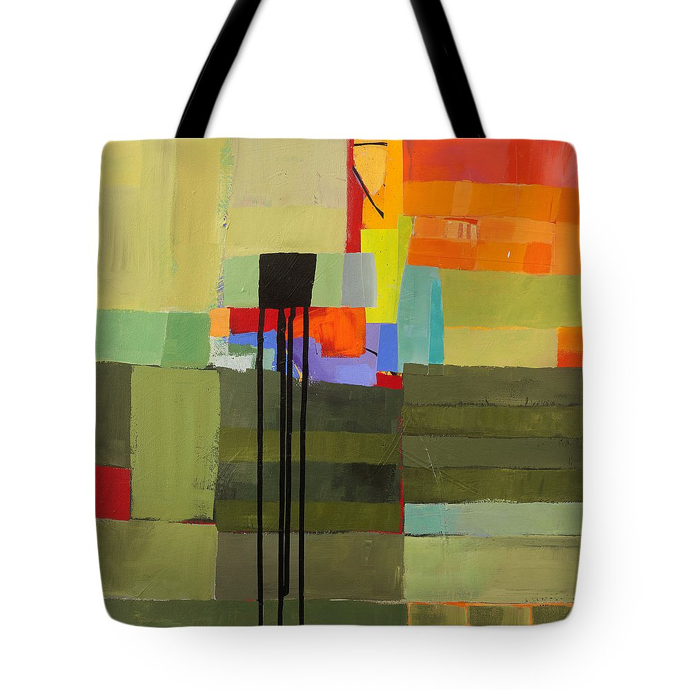 Abstract Art Tote Bag featuring the painting Stripes and Dips 1 by Jane Davies