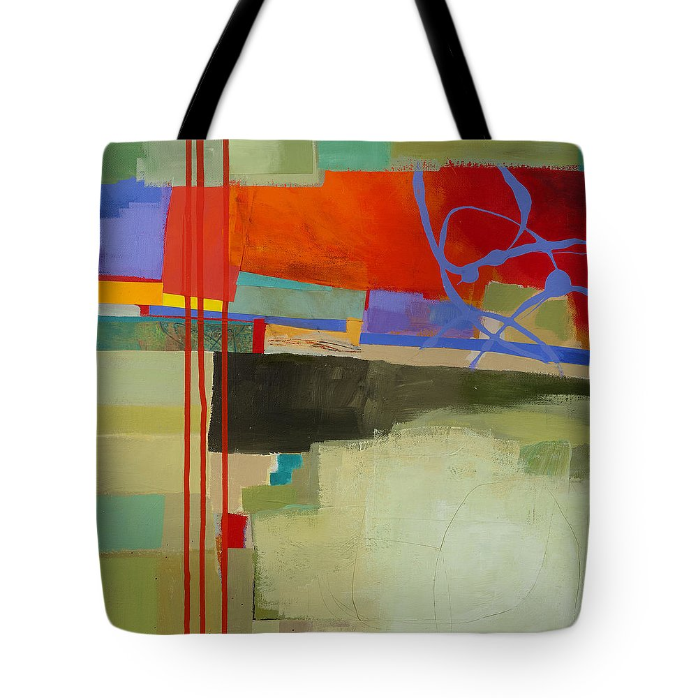 Abstract Art Tote Bag featuring the painting Stripes and Dips 2 by Jane Davies