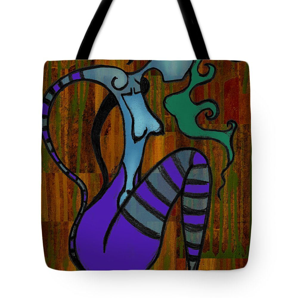 Stripes Tote Bag featuring the digital art Stripes by Kelly King