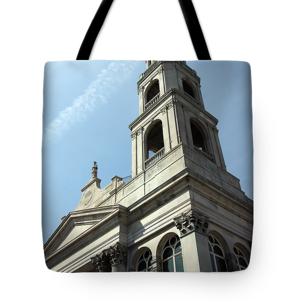 Buildings Tote Bag featuring the photograph Strong And Tall by Mary Haber