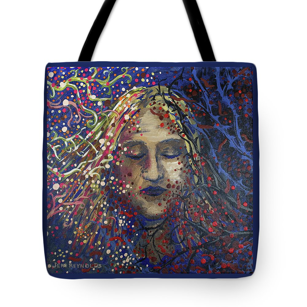 Struggle Tote Bag featuring the painting Struggle Of Blue by Jeni Reynolds