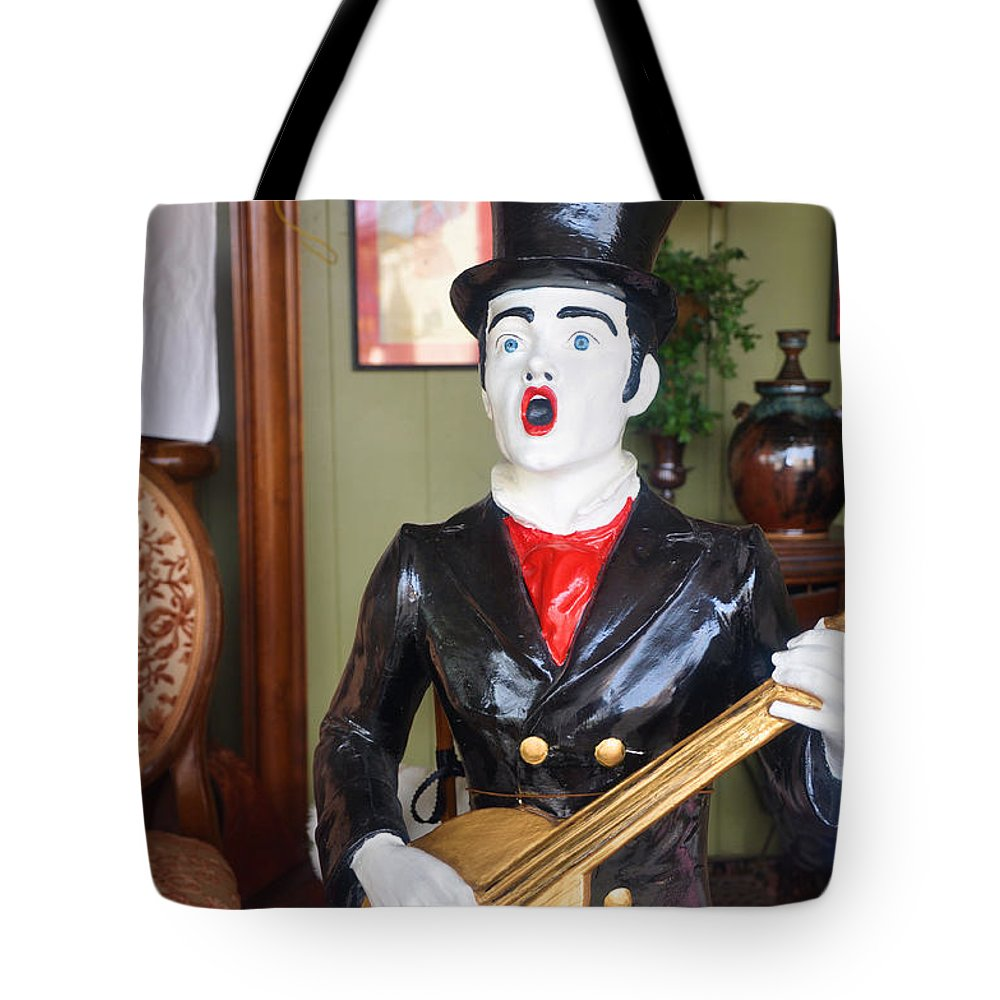 Antiques Tote Bag featuring the photograph Strummin On The Ole Banjo by Jan Amiss Photography
