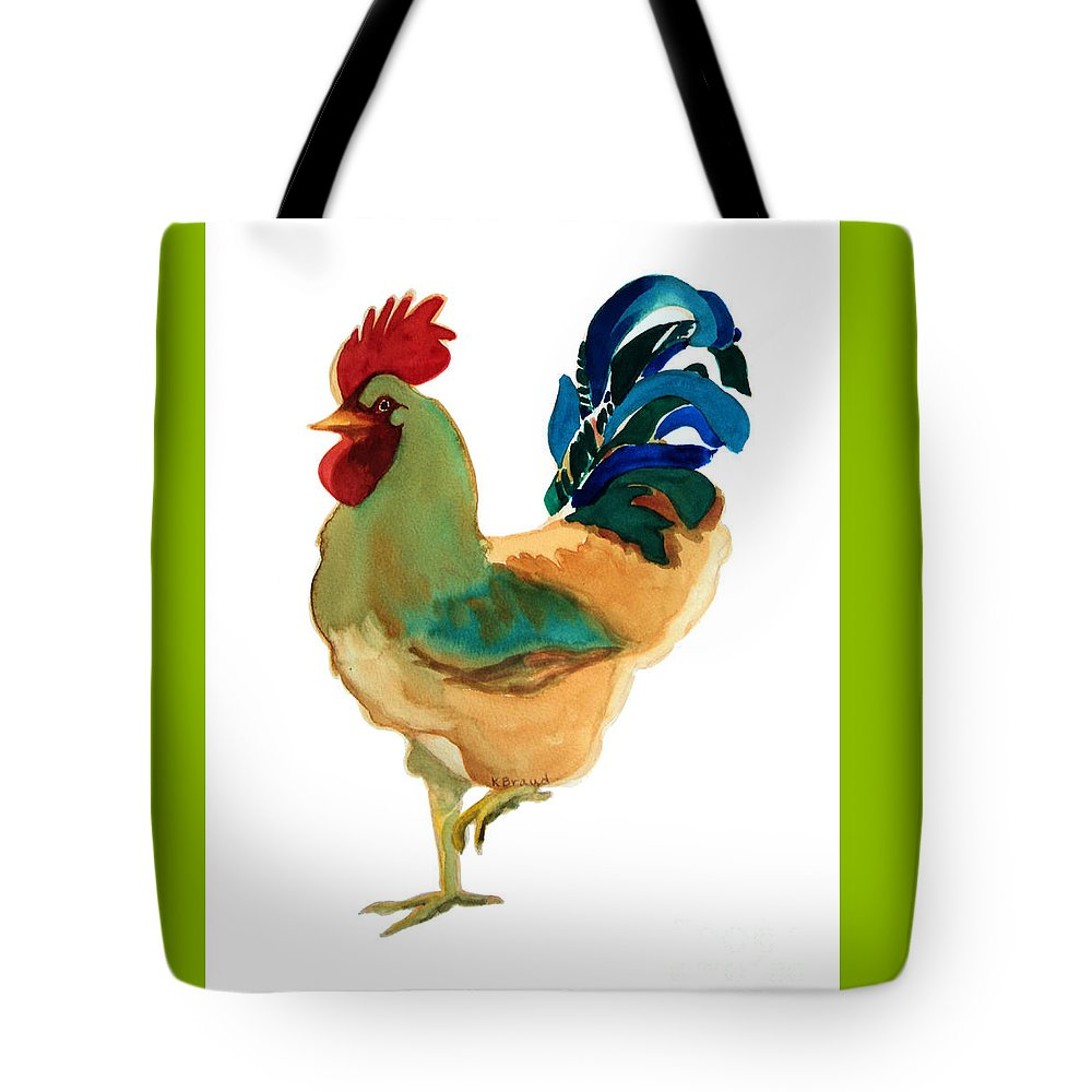 Paintings Tote Bag featuring the painting Strut Your Stuff - 6 by Kathy Braud