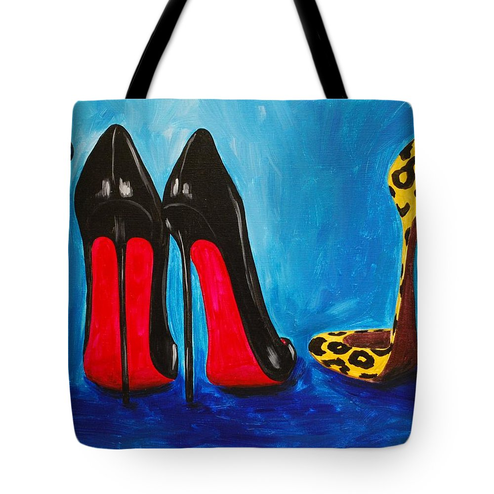 Shoes Tote Bag featuring the painting Strut Your Stuff by Emily Page