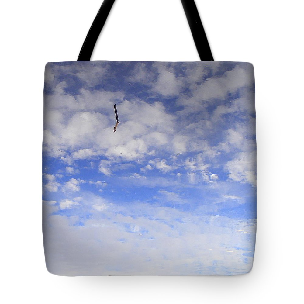 Sky Tote Bag featuring the photograph Stuck In The Clouds by Ed Smith